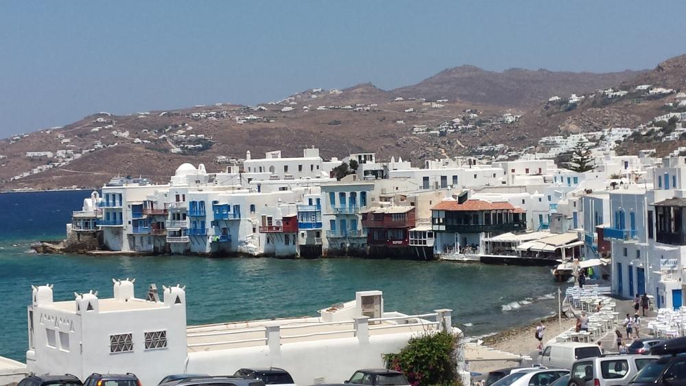 As famosas casinhas brancas e azuis gregas!