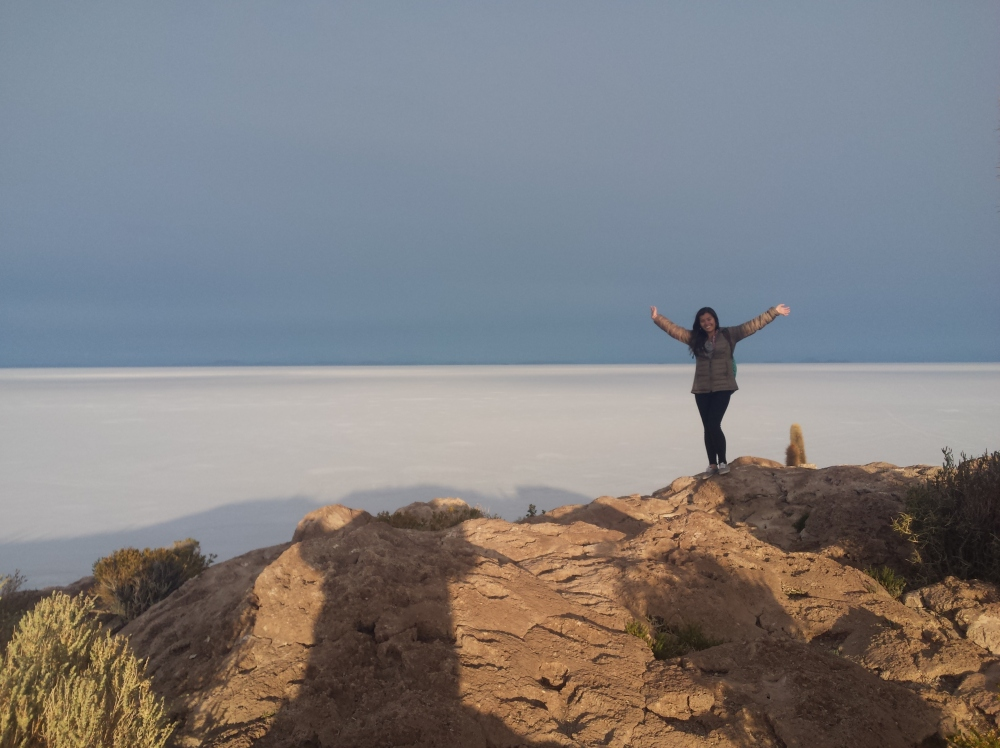 Eu no Salar de Uyuni