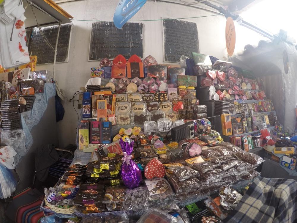 Chocolates de Sucre no Mercado Central