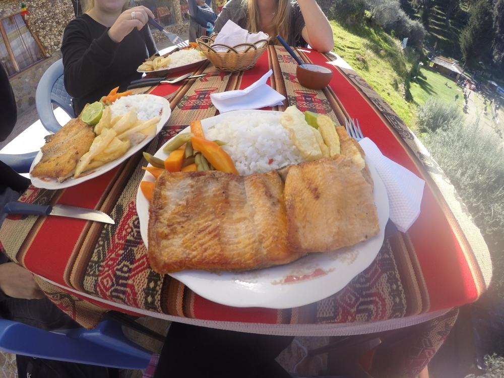 Truta do lago Titicaca