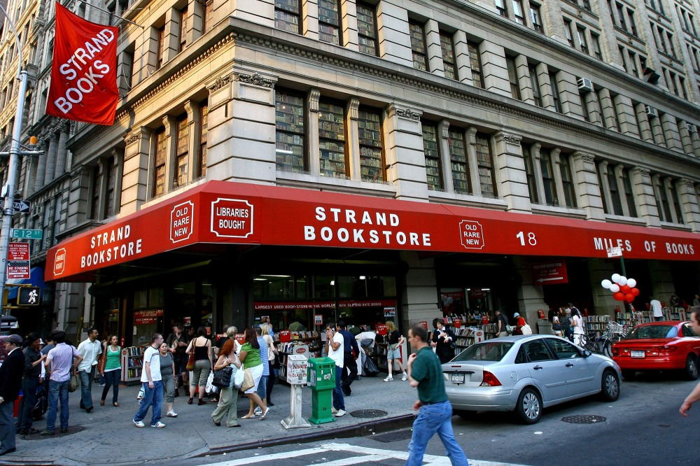 NEW YORK - JUNE 02: The front of Strand Books during Publisher Weekly's celebration party for Strand Bookstore's 80 years in business at Strand Bookstore on June 02, 2007 in New York City. (Photo by Scott Wintrow/Getty Images)